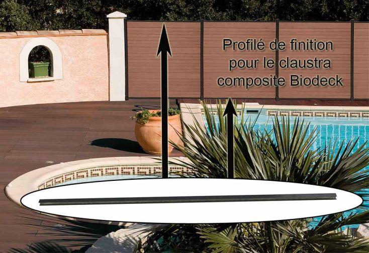 Profilés de Finition Haut et Bas pour Claustra Biodeck (Lot de 2)