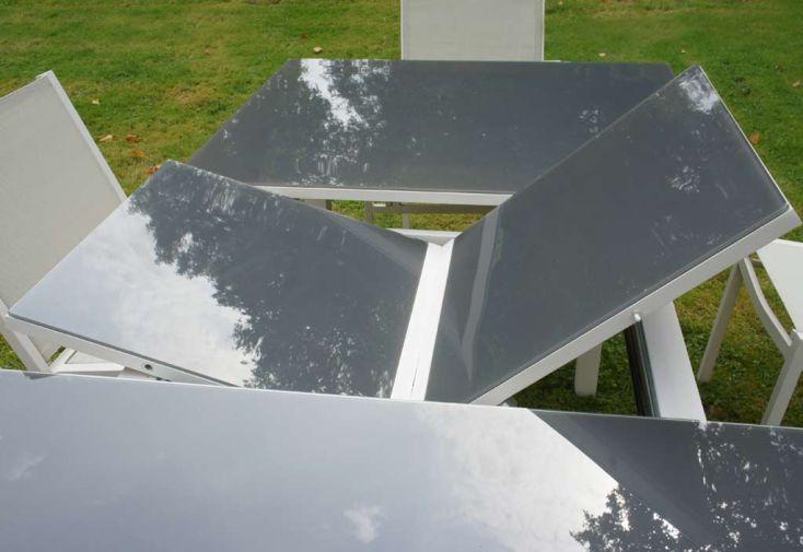 Table Verre Trempé Belterra + 2 fauteuils + 6 chaises