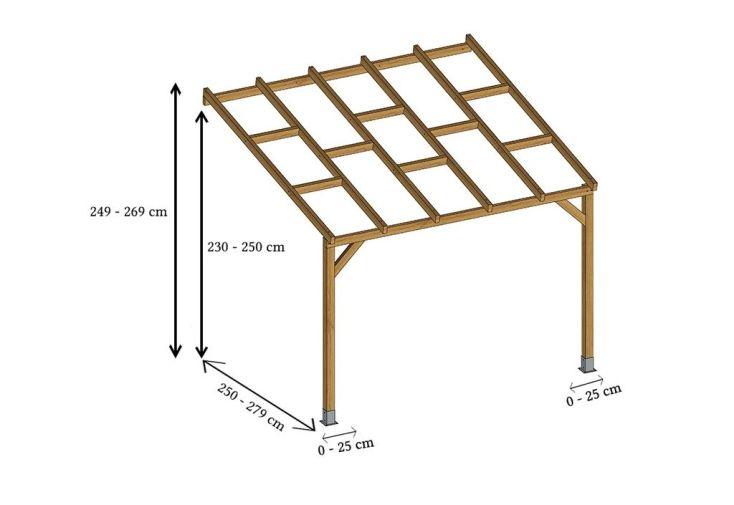 pergola bois dimensions modifiables