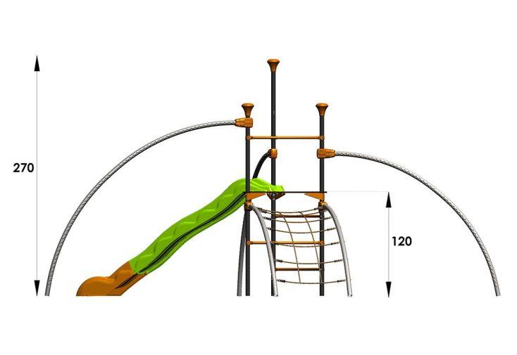 Aire de Jeux EVO-Fily avec 6 Agrès