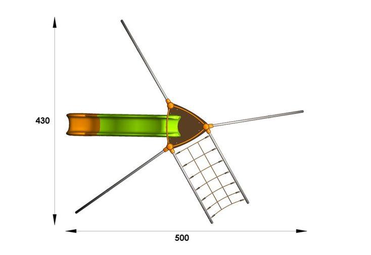 Aire de Jeux EVO-Ouf avec 6 Agrès