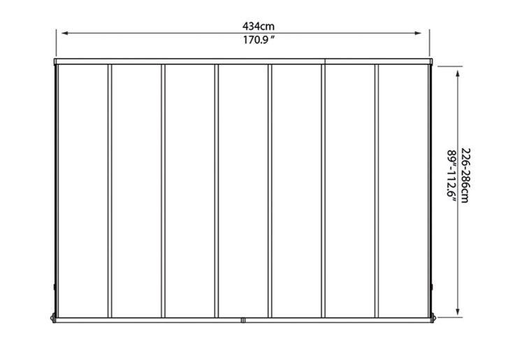Pergola Elite en Aluminium et Polycarbonate (434x295x260cm)