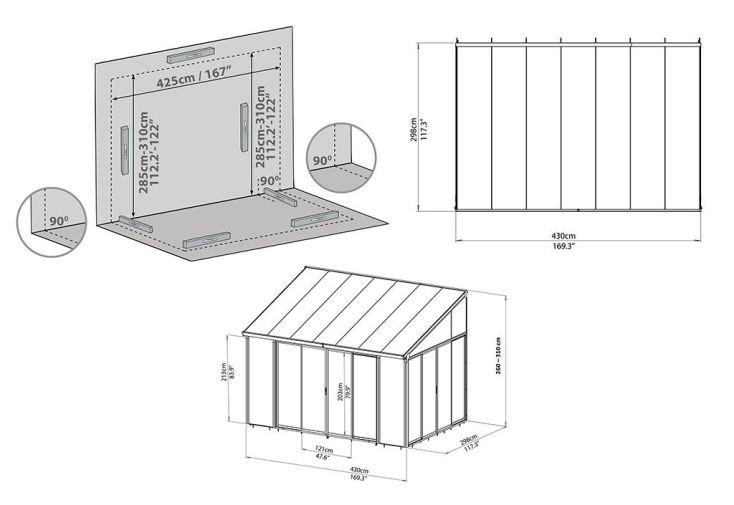 Pergola en Polycarbonate Fermée Couv'Terrasse Blanche