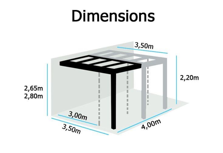 Extension Tonnelle Phoenix 2x3m + Toile Renforcée
