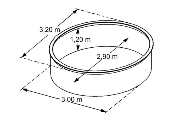 Piscine en Métal Hors-Sol Ronde Saphir Ø320cm + Accessoires