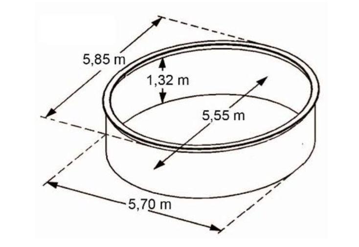 Piscine en Métal Aspect Bois Hors-Sol Ronde Osmose Ø585cm + Accessoires
