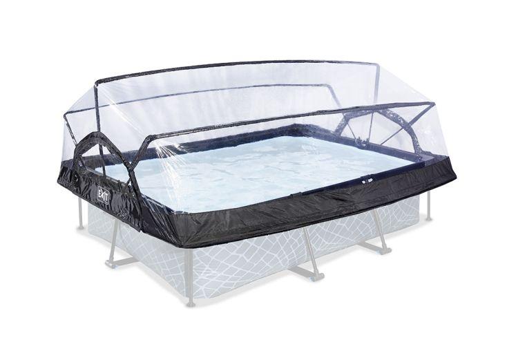 Dôme de protection pour piscines tubulaires rectangulaires Exit Toys
