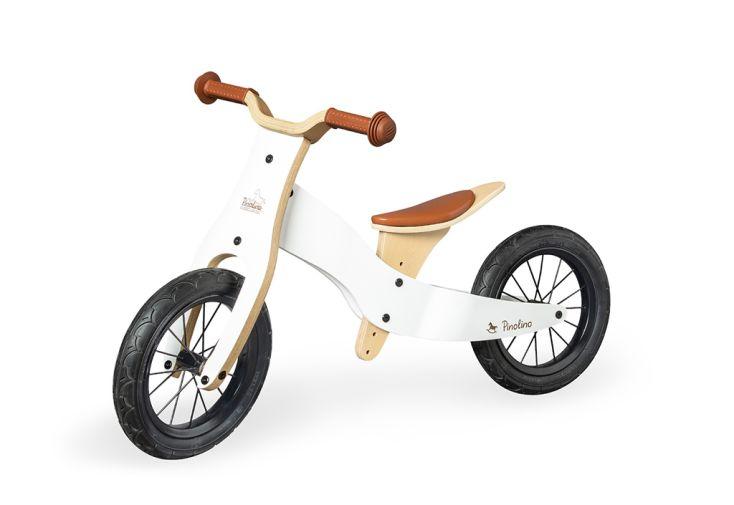 Draisienne en bois blanc 2 roues pour enfant dès 2 ans