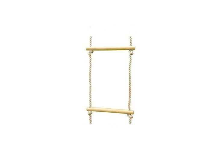 Echelle de corde en bois de hêtre et polypropylène pour portique Trigano