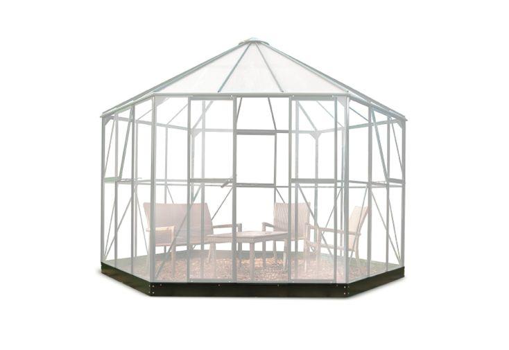 Embase pour Serre de Jardin en Acier Galvanisé Halls Atrium Noir