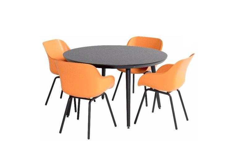 Ensemble repas salon de jardin 4 personnes aluminium et résine mobilier de jardin Sophie Elegance