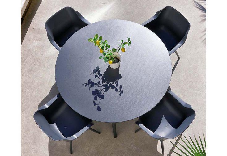 Ensemble repas salon de jardin 4 personnes aluminium et résine Hartman Sophie Element
