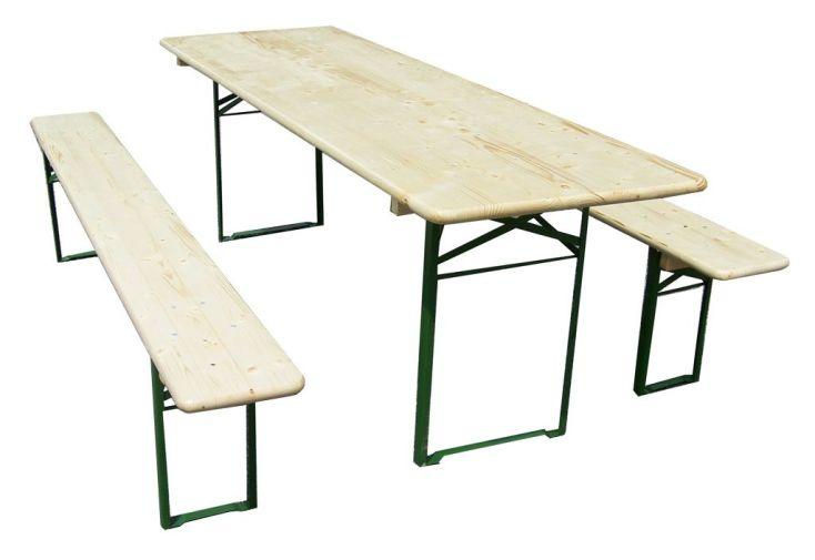 ensemble cologne table de pique-nique et ses deux bancs en bois massif