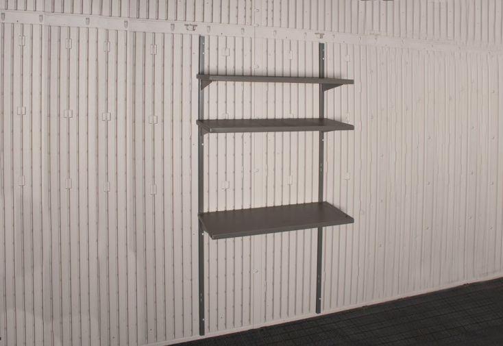 étagère métallique pour abri de jardin en resine lifetime