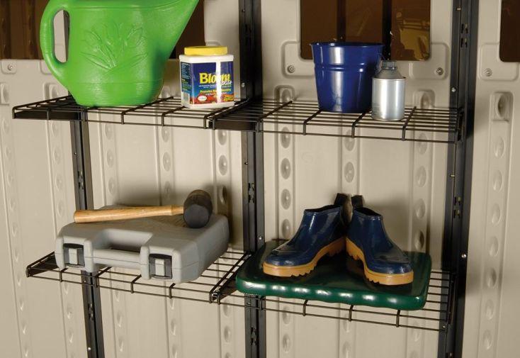étagère en métal pour abri Suncast en PVC