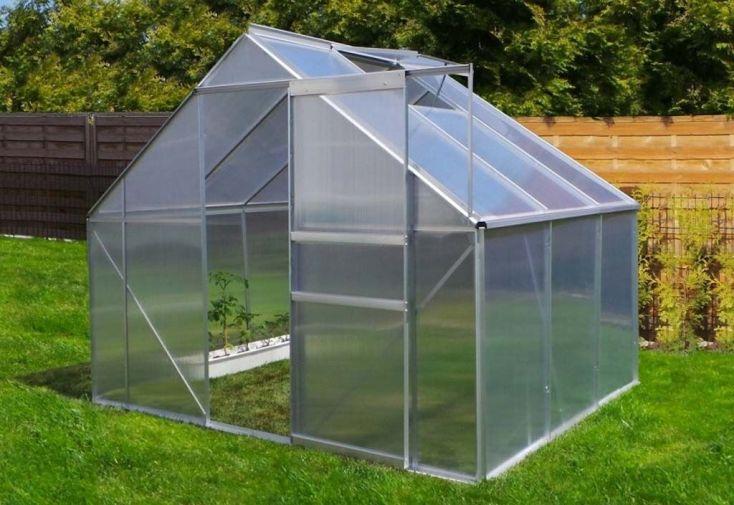 Serre de Jardin en Aluminium 4,75 m²- 250x190 cm