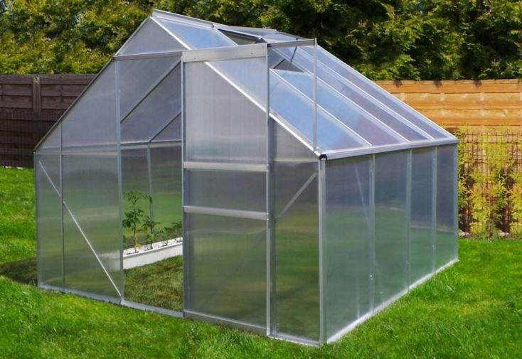 Serre de Jardin en Aluminium 6,25 m²