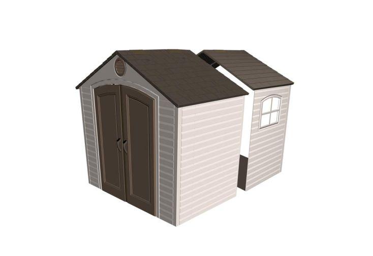 Kit d'extension Fenêtre pour abris PVC 6406/60015/6418/6405/60005