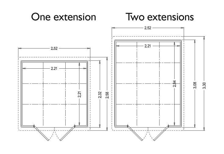 Extension pour Abri de Jardin Ghibli