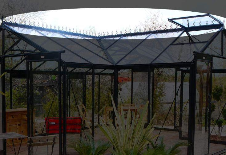 Faitière décorative pour serre de jardin en aluminium