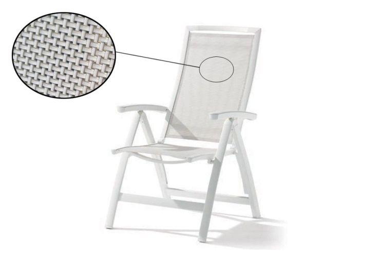 Chaise de Jardin Alu Pliable 6 Positions Trento Blanc (lot de 6)