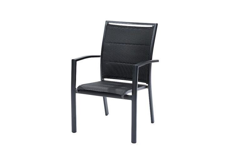 fauteuil de jardin en aluminium et textilène modulo Wilsa