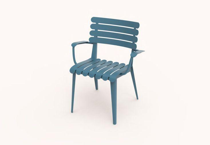fauteuil d'extérieur en métal résistant
