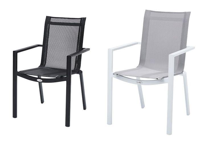 Salon de Jardin Carré Whitestar : 1 Table Extensible + 8 Fts + 4 Chs