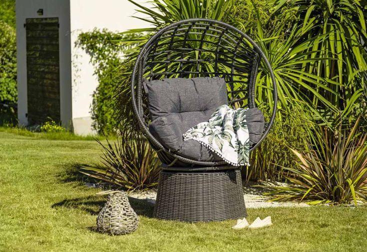 Fauteuil de Jardin en Aluminium et Résine Tressée DCB Garden Wallis