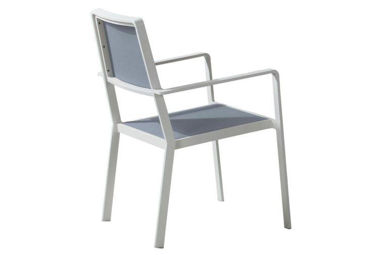 Fauteuil en aluminium et textil ne blanc monet ozalide - Fauteuil jardin blanc ...
