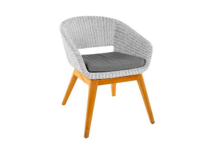 Chaise d'Extérieur en Bois de Teck Mountfield Devi Blanc