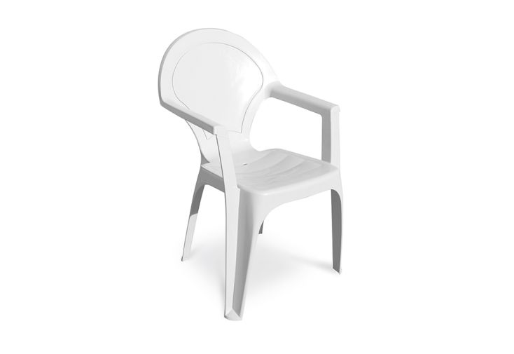 chaise jardin empilable blanc