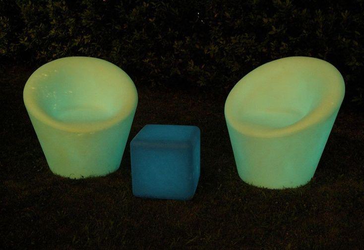 Fauteuil de Jardin Lumineux Fluo Polyéthylène (plusieurs couleurs)