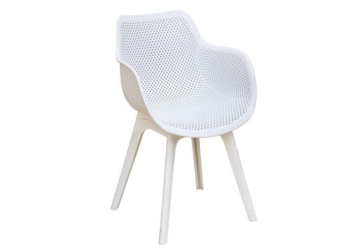 fauteuil d'extérieur en PVC style nordique pieds en fuseaux