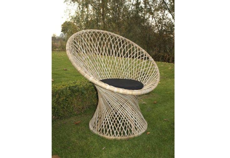 Fauteuil de jardin en rotin avec coussin monroe lot de 6 for Coussin de fauteuil de jardin