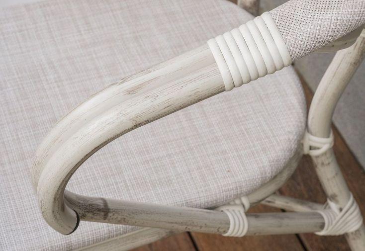 fauteuil de jardin en aluminium gris avec textilène tissé PVC