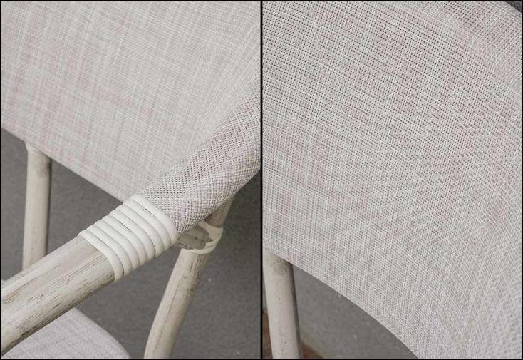 fauteuil de jardin imitation naturelle en aluminium et textilène gris