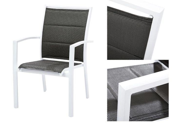 Salon de Jardin Modulo, Table Extensible + 4 Fauteuils + 4 chaises