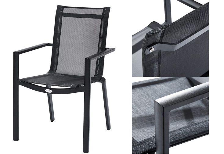 Salon de jardin hpl table extensible 8 fauteuils 4 for Salon 4 fauteuils