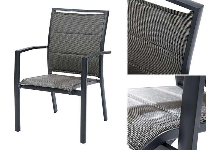 Salon de Jardin Modulotex: Table Extensible + 4 Fauteuils + 4 Chaises