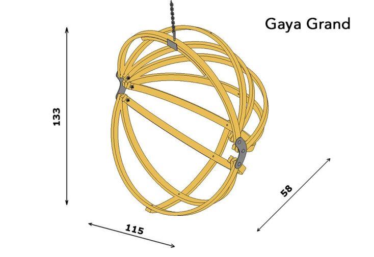 dimensions du fauteuil suspendu gaya en bois grand