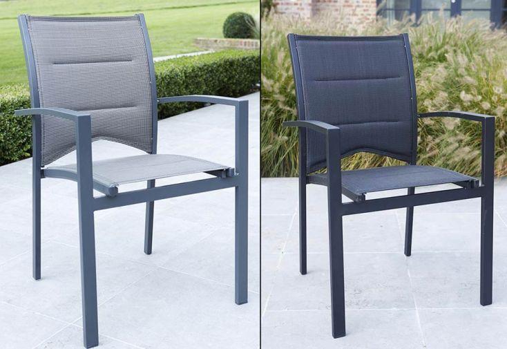 Salon de Jardin Modulo : Table Extensible + 4 Fts + 4 chs (3 Coloris)