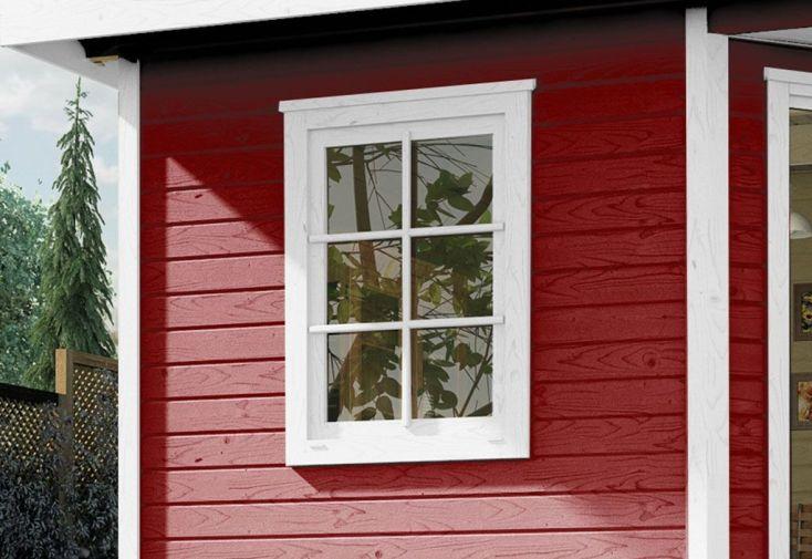 Fenêtre Bois pour Abri de Jardin Fides 84x113cm