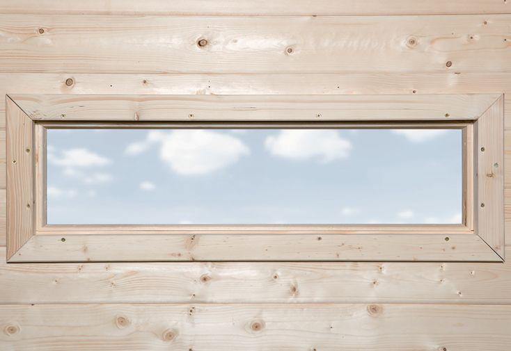 Fenêtre pour Abri de Jardin Weka 40 x 125 cm Naturel