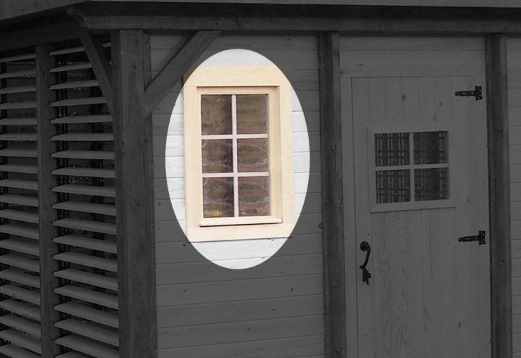 Fenêtre de Bardage en Bois pour Tonnelle Azalée