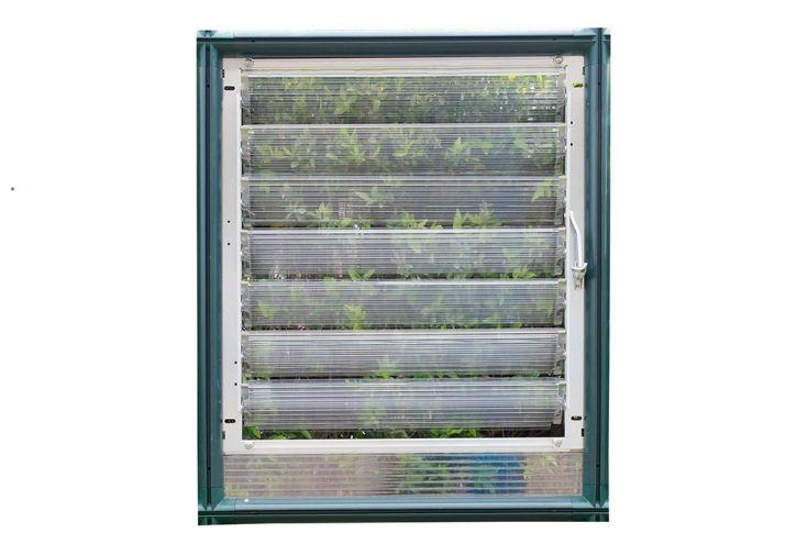 Fenêtre persiennes avec ventelles pour serre de jardin Palram