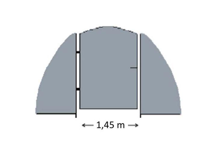 Porte pour Serre de Jardin Tunnel Richel 4,5 m