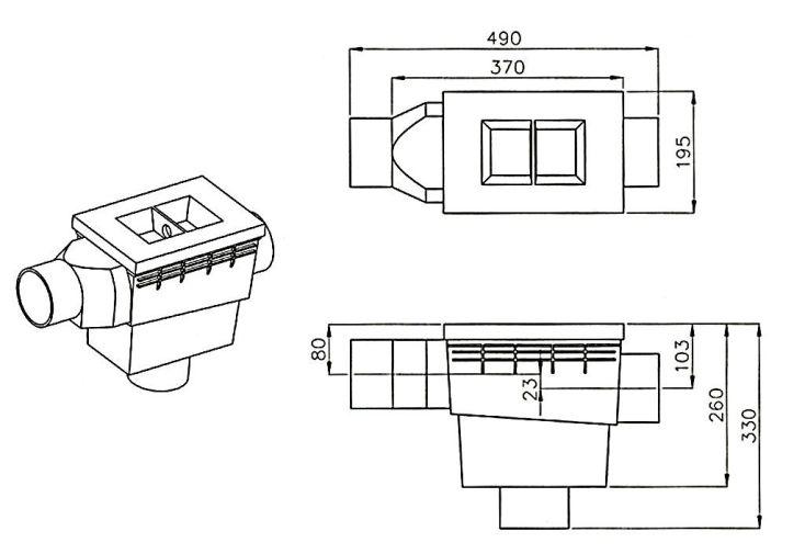 Filtre de Cuve Intégré (Surface jusque 160 m²)
