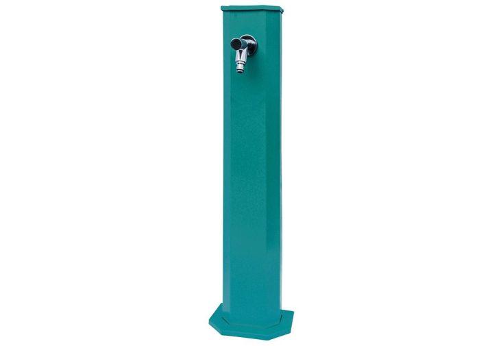 fontaine de jardin en zinc bleue turquoise 1 m de haut