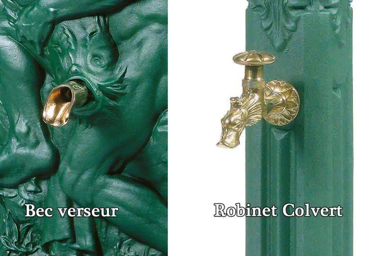 Fontaine de Jardin Murale en Fonte Neptune + Robinet